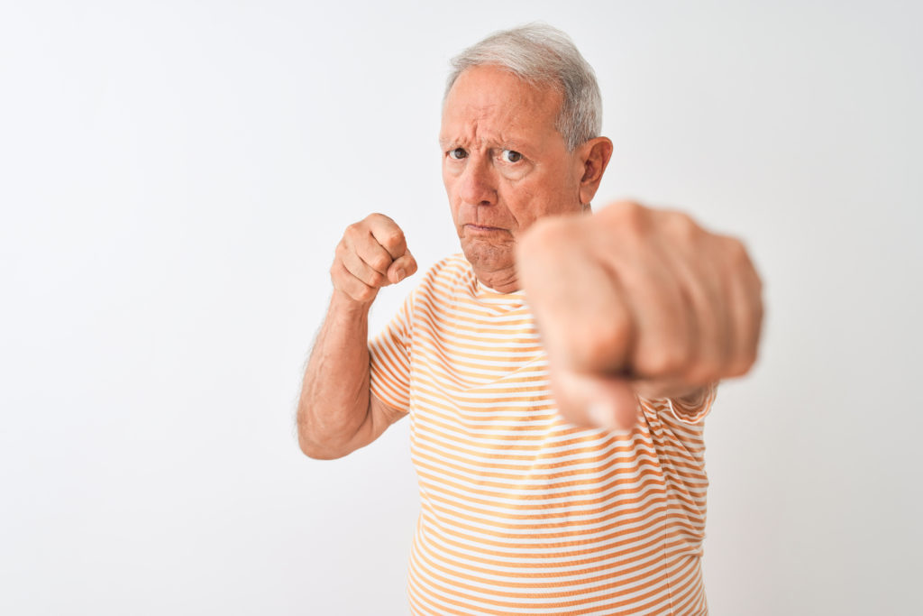 Aggression and paranoia are not normal dementia symptoms.